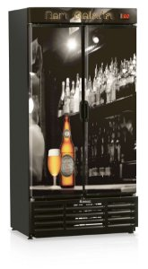 Cervejeira Gelopar GRBA-760PL Vertical 760L 2 Portas Cega Adesivadas 220V