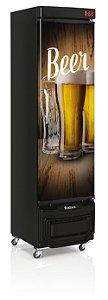Cervejeira Gelopar GRBA-230E WD Vertical 230L Porta Cega Adesivada 220V