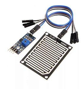 Sensor De Chuva E Gotas Pingos Água + Cabos Para Arduino