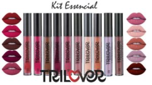 KIT ESSENCIAL - 10 BATONS LÍQUIDO MATTE TRILOVER 4ML