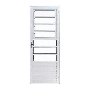 Porta de Alumínio Branco Basculante 2,10A X 0,80L Abertura para Esquerda
