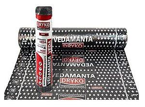 Manta Asfáltica Dryko Alumínio Polietileno 35kg 10m²