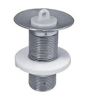Válvula para Lavatório Metal Cromado Sem Unho