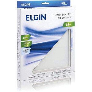 Plafon Led Quadrado Sobrepor BR 18W 6500K ELGIN