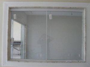 Janela de correr de vidro temperado 2 folhas 1,20  x 1,20 ALT Alumínio em Cor Branca