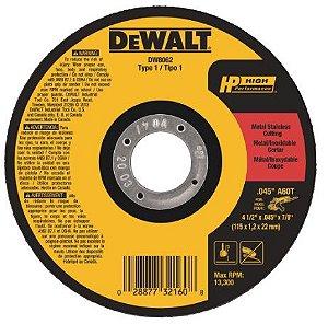 Disco Corte Ferro/Inox 41/2x7/8 Dewalt