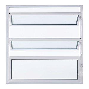 Janela Alumínio Basculante 40A X 40L Perfil Fino Esal (Alumínio em Cor Branca)