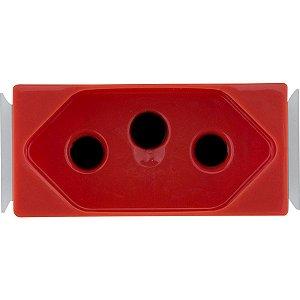 Módulo Tomada 2P+T Aria 20 A 250 V Vermelho Tramontina