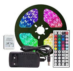 Fita Led 5m RGB 5050 com Controle