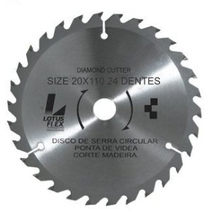 Disco para Madeira 24 dentes videa 110mm Lotus