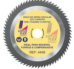 Disco para Madeira 72 dentes videa 110mm Lotus