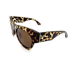 Óculos de Sol Prorider Animal Print Fosco com Lente Fumê Marrom - 2819-C3
