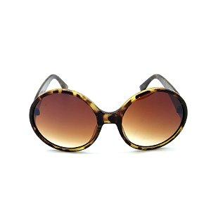 Óculos de Sol Paul Ryan Animal Print Fosco com Lente Degradê Marrom - YD1836-C2