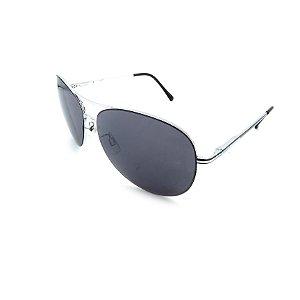 Óculos Solar Prorider Prata Detalhado Com Lente Fumê  - B88-88