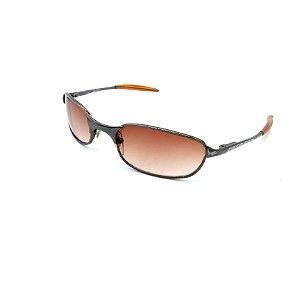 Óculos de Sol Prorider Retrô Cinza Brilhante com Lentes Degradê Laranja - VULCONC1