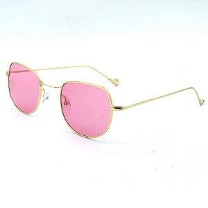Óculos Solar Prorider Dourado Com lente rosa - JT063 C3
