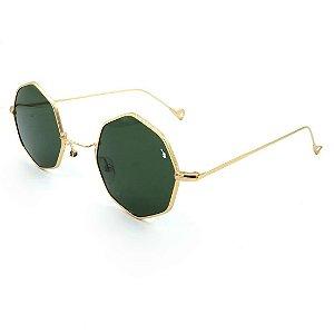Óculos Solar Prorider Dourado Com lente verde - J7065