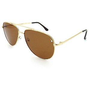 Óculos Solar Prorider Dourado Com lente marrom - H7530B