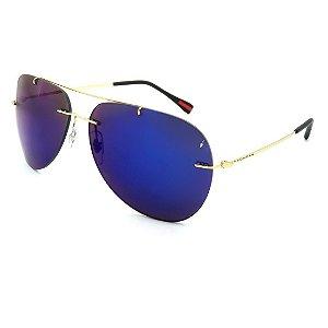 Óculos Solar Prorider Dourado Com lente Espelhada Azul - BF562R