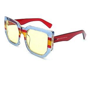 Óculos Solar Prorider Vermelho e Branco Com lente Amarelo - pt750