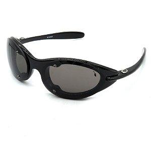 Óculos Solar Prorider Retro preto com lente fume - X6002