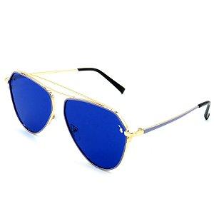 Óculos Solar Prorider dourado com lente azul - 27436C4