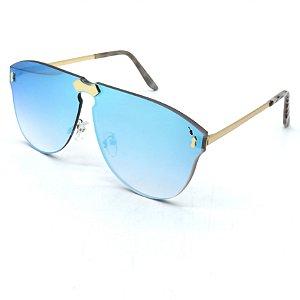 Óculos Solar Prorider Prata com lente fumê Azul-dsa43