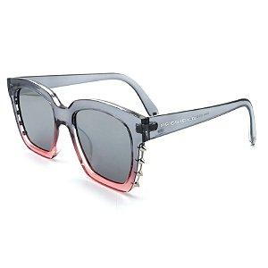Óculos Solar Prorider Translucido cinza e rosa - R8664 C3