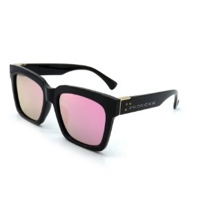 Óculos de Sol Prorider Casual Preto e Dourado com Lentes Espelhadas - BIOTOM27