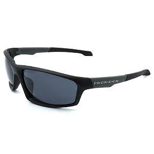 Óculos de Sol Prorider Esportivo Preto e Cinza com Lentes Fumê - BIOTOM28