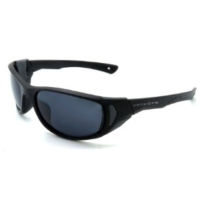 Óculos de Sol Prorider Esportivo Preto e Cinza com Lentes Fumê - BIOTOM31