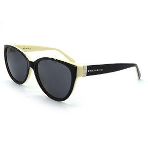 Óculos de Sol Prorider Casual Preto e Creme com Lentes Fumê - BIOTOM33