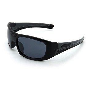 Óculos de Sol Prorider Esportivo Preto e Cinza Com Lentes Fumê - BIOTOM23