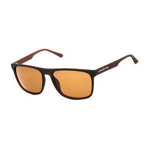 Óculos de Sol Dark Face Marrom Fosco com Lente Marrom  - ZXD21C2