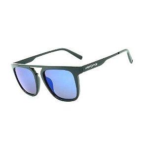 Óculos de Sol Dark Face Preto Fosco com Lente Espelhada - B88-1397