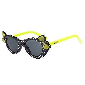 Óculos de Sol Infantil Z-JIM Gatinho Preto e Verde