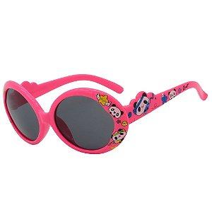 Óculos de Sol Infantil Z-JIM Rosa Chiclete Estampado