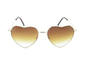 Óculos Solar Infantil Amy Loo Dourado e Marrom - 7384