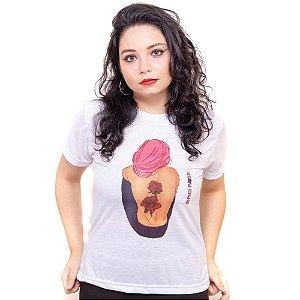 Camiseta branca Bad Rose Personagem Autoral Nanami Nem - FELL