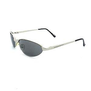 Óculos de Sol Retro Prorider Prata com Lente Fumê - A2540