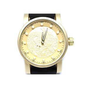 Relógio Dark face Preto e Dourado - RLPD2020-2