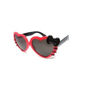 Óculos de Sol Prorider Infantil Preto e Vermelho Coração - ZXD28-3
