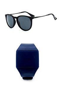 Kit Relógio Azul Prorider com Óculos de Sol Preto - KITALMOCPT