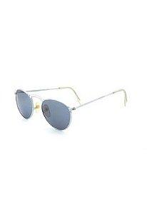 Óculos De Sol Prorider Retro Prata com lente fumê - PRFM