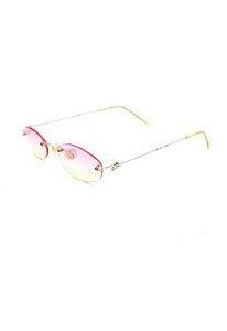 Óculos Solar Prorider retro dourado com lente degrade rosa e amarela -  CA121