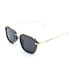 Óculos de Sol Prorider Preto e Dourado com Lente Fumê - 5236C5