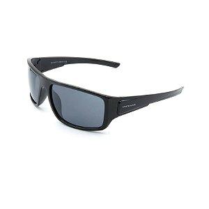 Óculos de Sol Prorider Preto Brilhante Detalhado com Lente Fumê - LL3101