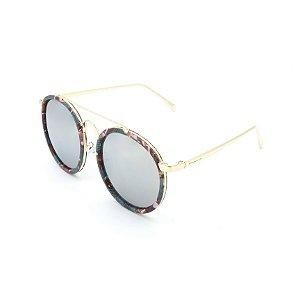 Óculos Solar Prorider Retrô Dourado e Multicores Com Lentes Fumê - DES464