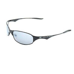 Óculos de Sol Prorider Retrô Prateado Fosco com Lente Fumê Cinza - Allow321