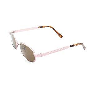 Óculos de Sol Prorider Detalhado Rosê e Animal Print com Lente Marrom - RAP1990